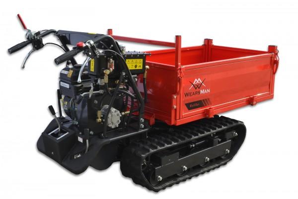 Minidumper Halifax mit 6 Vor- und 2 Rückwärtsgängen, Motorschubkarre, Kettendumper