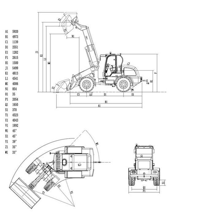 Masse-Radlader-825T