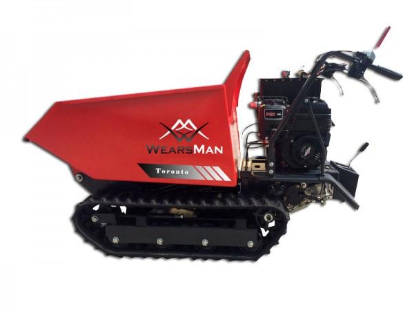 Minidumper Toronto mit 6 Vor- und 2 Rückwärtsgängen, Motorschubkarre, Kettendumper
